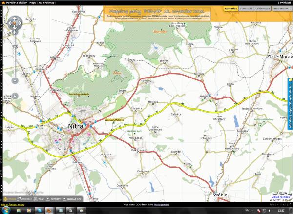 Už niekoľko po otvorení nového úseku rýchlostnej komunikácie okolo Nitry bolá táto cesta zakreslená http://www.freemap.sk/ .