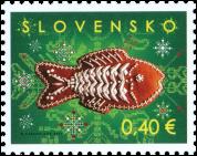 Známka Slovenskej pošty Vianoce 2011 vonia škoricou.