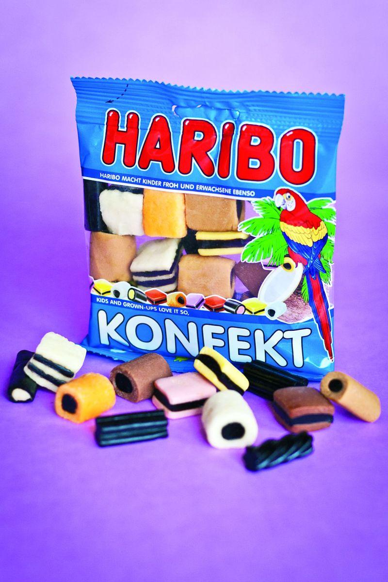 HARIBO Konfekt – jednotka medzi produktmi HARIBO zo sladkého drievka s tradíciou siahajúcou do roku 1925