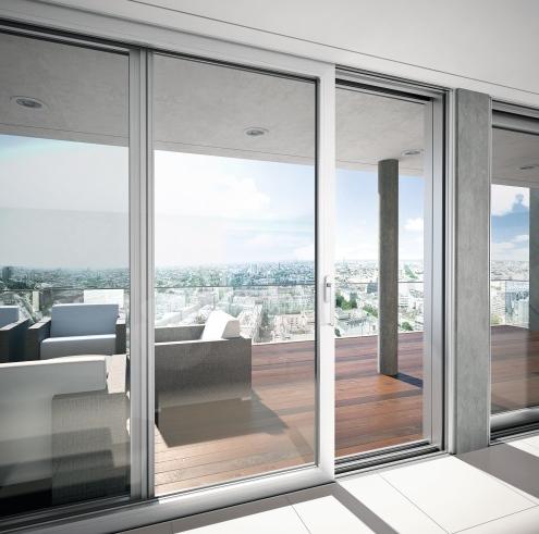 Na dokonalé presvetlenie priestorov apôsobivý vzhľad pre výhľad na terasu, či záhradu postačí aj posuvný dverný systém.