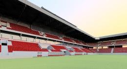 Štadión je projektovaný podľa technických parametrov a požiadaviek UEFA a FIFA s kapacitou 19 000 miest.