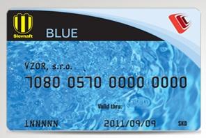 BLUE karta od Slovnaftu