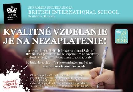 Baccalaureate Diploma Programme (IBDP) na British International School v Bratislave