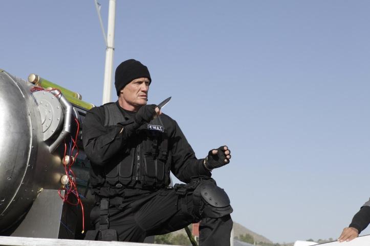 Hollywoodska hviezda Dolph Lundgren v akcii.