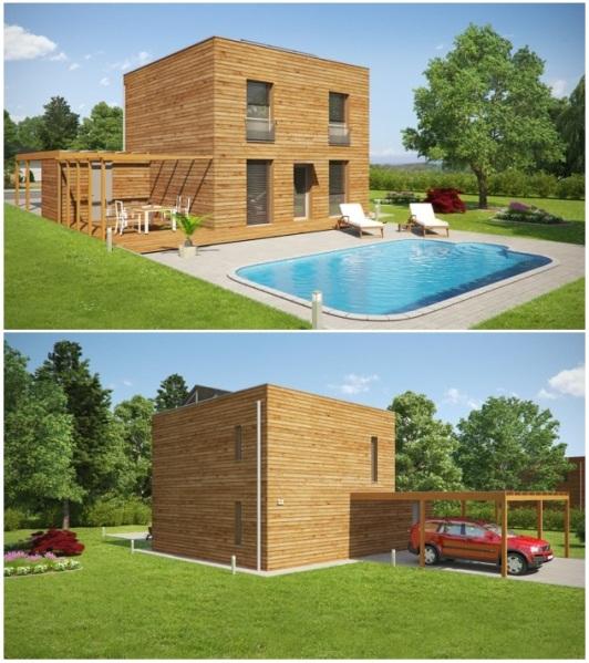 Nové typy pasívnych domov Eco Universal z radu ECOCUBE
