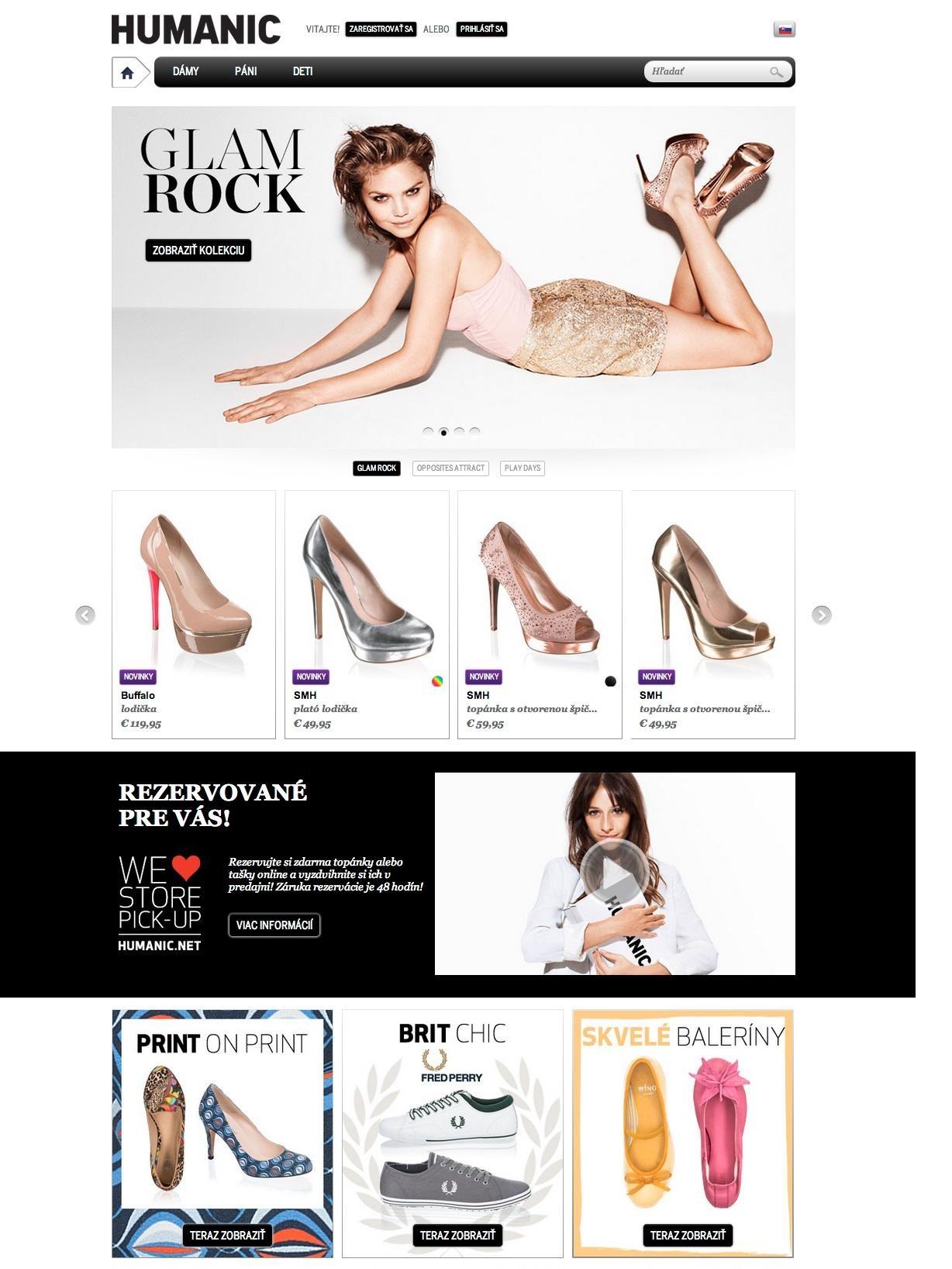a75db504b53a Nová webová stránka Humanic.net so službou Store Pick-up už aj v ...