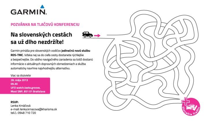 Garmin prináša pre slovenských vodičov novú službu, vďaka ktorej dorazia do cieľa svojej cesty rýchlejšie a bezpečnejšie.
