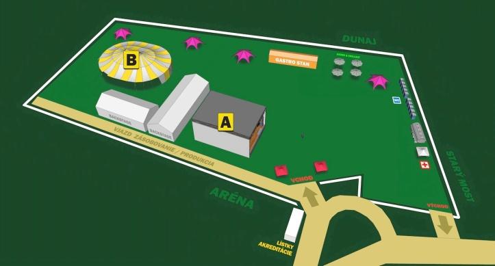 BA City Beats 2013: Mapa festivalu, Tyršovo nábrežie