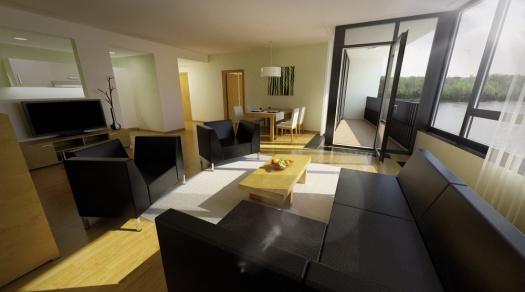 Cena mesačného nájmu v River Park Long Stay Apartments sa pohybuje od 1260 eur, mesačné náklady na energiu vychádzajú do 250 eur.
