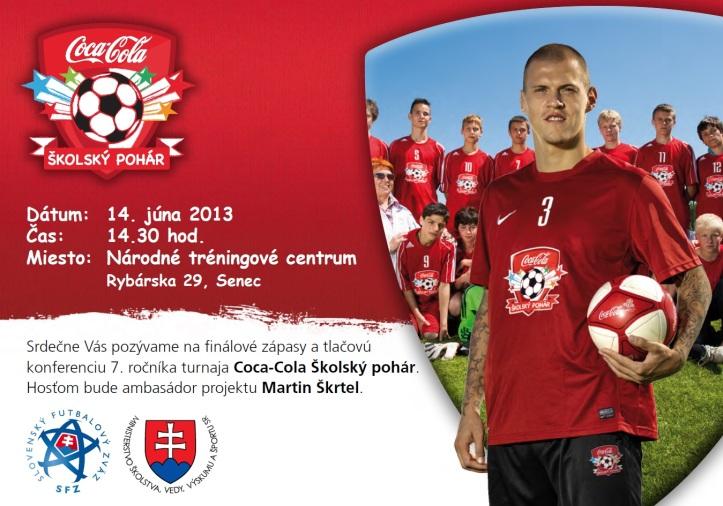 Finále 7. ročníka turnaja Coca-Cola Školský pohár s Martinom Škrtelom