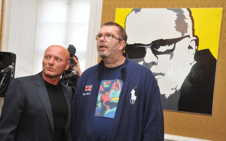 Richard Müller si výsledné dielo českého maliara Václava Floriana prišiel osobne pozrieť.