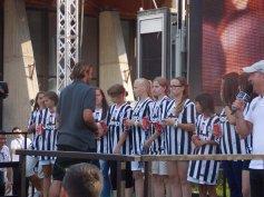Zlatý klinec výletu čakal mladé talenty na tretí deň, kedy sa výprava presunula do Chatillonu na letný prípravný kemp A tímu Juventusu Turín.