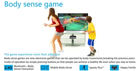 Sinteraktívnym ovládaním športových hier pohybmi používateľa sa zo statického diváka – konzumenta, stáva divák saktívnou účasťou na programe.