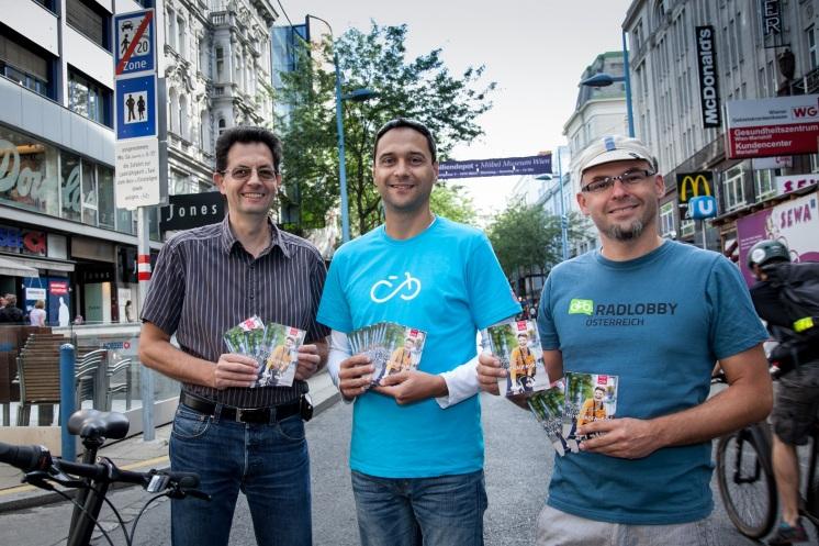 Informačná kampaň novej koncepcie, priamo na Mariahilfer Straße. © Hans Leitner