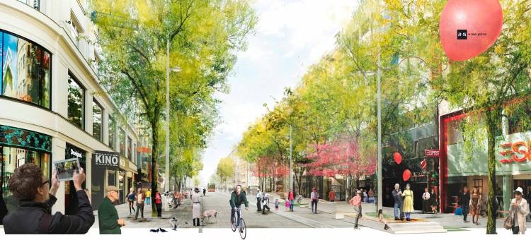 Vizualizácia Mariahilfer Straße. © Ecker & Partner