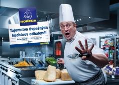 Reťazec METRO Cash & Carry SR novú brandovú kampaň, ktorej cieľom je zvýšiť povedomie apredaj tovaru vlastnej prémiovej značky Horeca Select. Na fotografii: Peter Ďurčo, TOP Restaurant, Žilina.