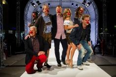 Zľava doprava: Hans-Georg Heinke, Mike Galeli, Heribert Kasper, Alex List, Yvonne Rueff, Simon Tötschinger a Andreas Ferner.