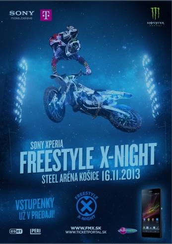 Po trojročnej prestávke sa motokrosová šou Sony Xperia Freestyle X-Night vracia do košickej Steel Areny.