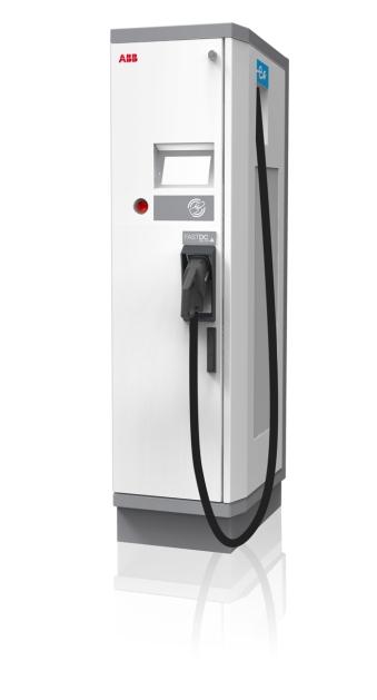 Rýchlonabíjacia stanica pre elektromobily Terra 53C od ABB. Tento elektrostojan dokáže vďaka svojmu výkonu nabiť elektromobil už za čas porovnateľný s klasickým tankovaním.