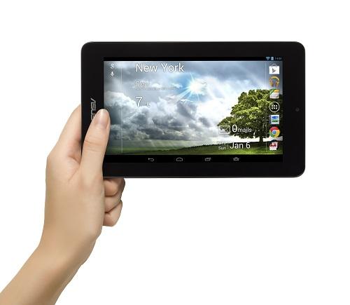 Tabletu NOTE ASUS PAD ME172V 65A má 7-palcový displej s HD rozlíšením (1024x600) a 16 gigabajtovú pamäť.