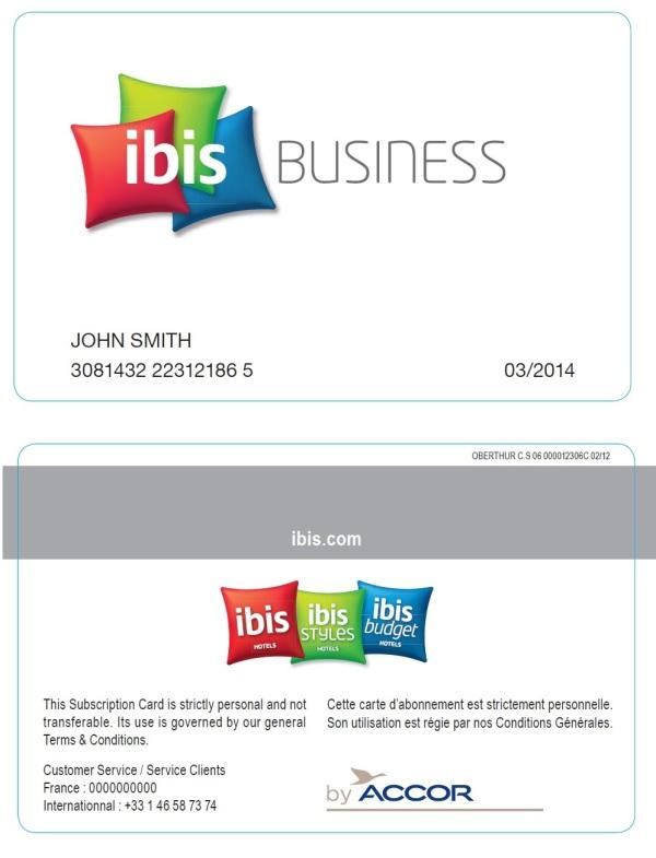 Rodina značiek ibis prináša IBIS BUSINESS kartu, ktorá napĺňa potreby obchodných manažérov tvoriacich špecifickú skupinu pravidelných hostí.