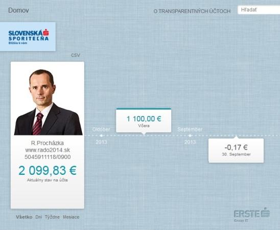 Vďaka transparentnému účtu je možné nahliadnuť na detaily jednotlivých bankových transakcií prostredníctvom webovej stránky www.transparentneucty.sk.