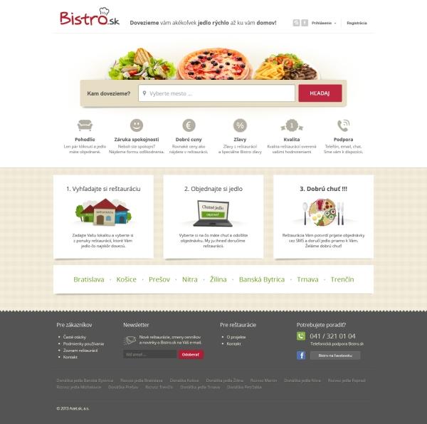 Bistro.sk je najnovší projekt od spoločnosti Azet.sk. Mesačne sa prostredníctvom tejto online služby uskutoční viac ako 10-tisíc objednávok zcelého Slovenska.