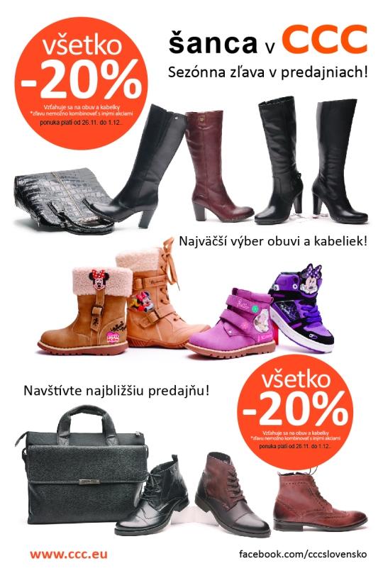 6defeabe63 V predajniach CCC obuv sa v utorok 26. novembra začína Týždeň 20 % zliav na