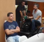 """Producentom filmu """"38"""" je Dano Dangl (v popredí) a film vzniká za účasti a podpory Majky Demitrovej, Paľovej rodiny a blízkych."""