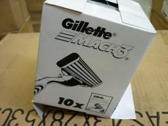 """V zásielke bolo 62 400 ks náhradných hláv holiacich strojčekov označených ako """"GILLETTE""""."""