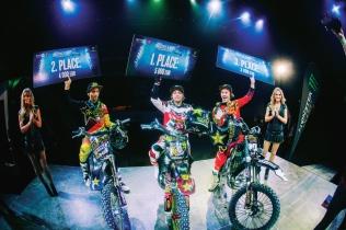 Najlepší na Sony Xperia Freestyle X-Night 2013 v košickej Steel Aréne: David Rinaldo, Rob Adelberg, Libor Podmol.