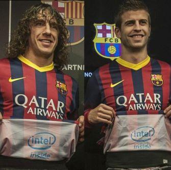 Logo Intel Inside®, ako partnerské logo bude na dresoch klubu FC Barcelona zobrazené po pvýkrát v histórii.