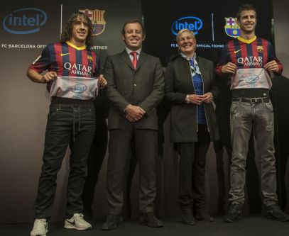 Intel Corporation a futbalový klub FC Barcelona 12. decembra 2013 oznámili, že uzavreli Dohodu o partnerstve.