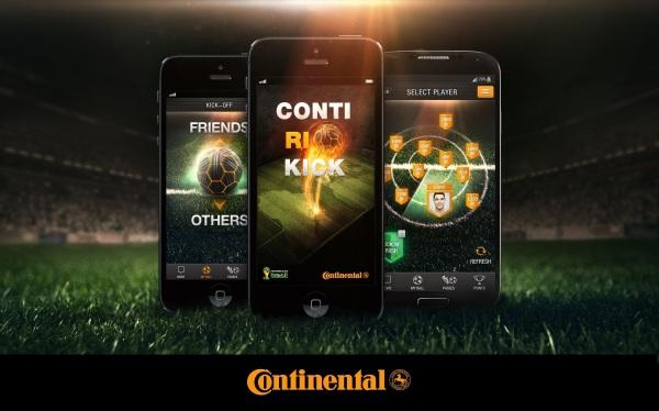 V rámci hry ContiRioKick môže každý súťažiť o VIP zájazd na futbalové majstrovstvá sveta FIFA 2014 v brazílskom Rio de Janeiro, vrátane ubytovania, leteniek a vstupeniek na štadión . V hre je tiež oficiálna lopta majstrovstiev adidas Brazuca alebo prémiové pneumatiky Continental.