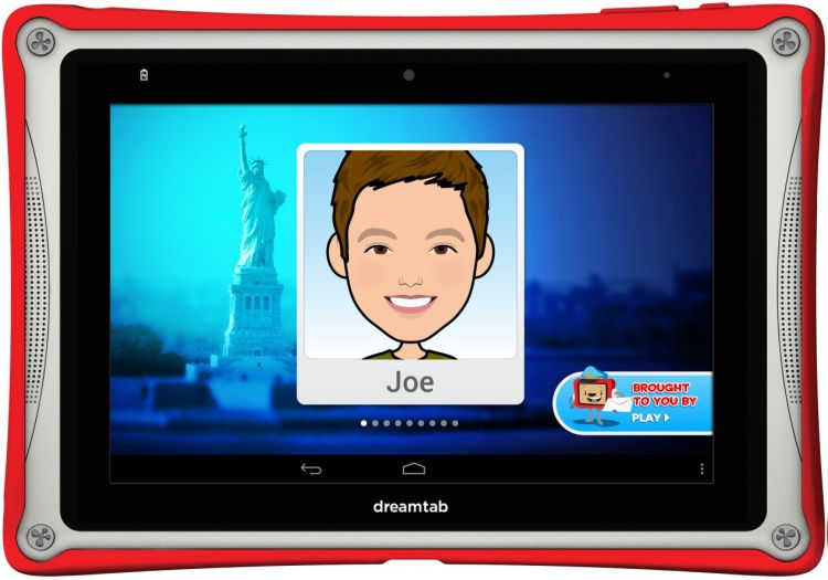 DreamTab od Intel, Fuhu a DreamWorks obsahuje prvky zábavy aj vzdelávania. Spojili svoje sily,  aby vytvorili pre DreamTab najlepšiu technológiu, výkonný vzdelávaco-zábavný tablet pre deti.