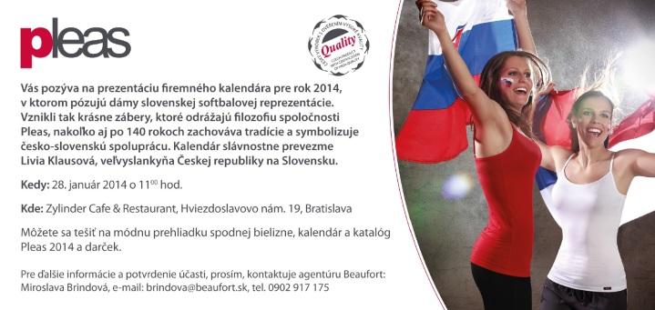 Kalendár slávnostne prevezme Livia Klausová, veľvyslankyňa Českej republiky na Slovensku.
