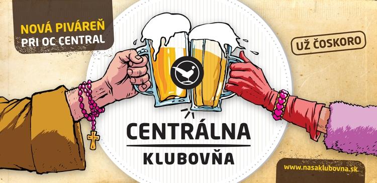 """Centrálna klubovňa: Mních a dáma. Reklamná kampaň na prvú zpivární konceptu Klubovňa, sktorou najväčšia slovenská gastroskupina MEDUSA GROUP plánuje neskôr """"vyraziť"""" aj mimo Bratislavu."""