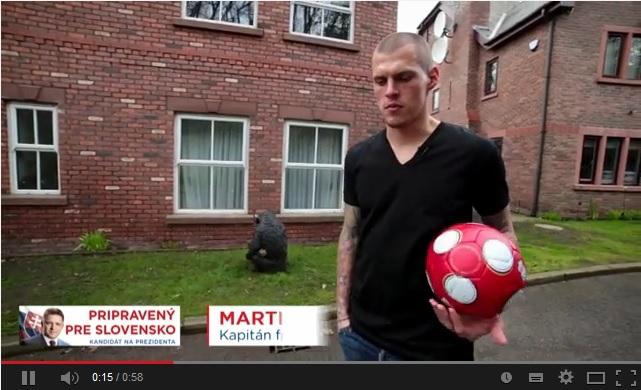 Futbalista Martin Škrtel podporuje kandidáta na prezidenta Roberta Fica