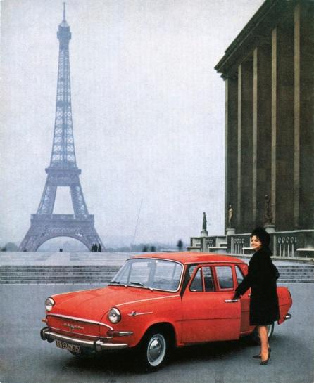 Premiéra modelu ŠKODA 1000 MB na výstave v Paríži.