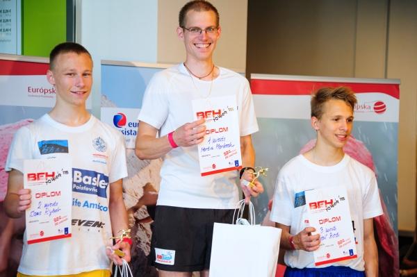 Víťaz posledného ročníka medzi mužmi, Martin Markech, prekonal sám seba, keď svoj rekord 2 minúty a31 sekúnd prekonal o6 sekúnd.
