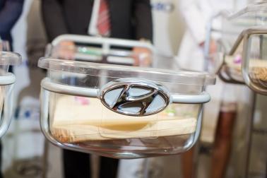 Trenčianski novorodenci si ako prví na Slovensku užijú jazdu v najnovšom Hyundai ix1.