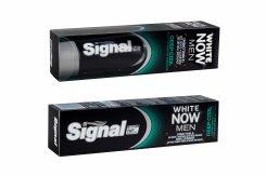 Pre intenzívne svieži dych prichádza Signal White Now Men Deep Cool, ktorá okrem bieliaceho účinku ohúri aj výnimočne silnou mentolovou príchuťou.
