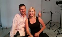 Zuzka Haasová a Tom Fekete, majiteľ e.l.f. kozmetiky na Slovensku, ktorý dlhodobo žije vUSA.