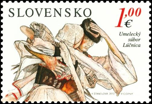 Na 3. mieste skončila známka Spoločné vydanie s Kóreou: Umelecký súbor Lúčnica.