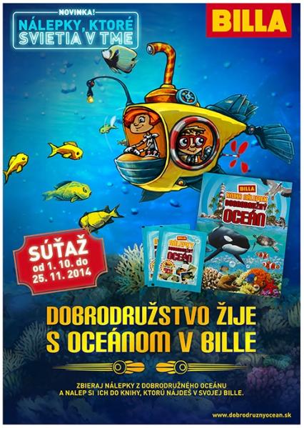 BILLA Slovensko: Nálepky Dobrodružný oceán
