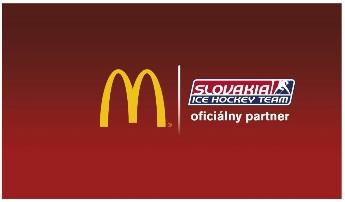 Oficiálnym partnerom slovenskej hokejovej reprezentácie vsezóne 2014/2015 je spoločnosť McDonald´s.