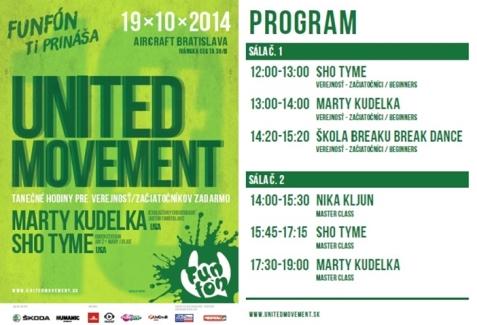 United Movement 2014 Bratislava predstaví svetoznámych tanečníkov a choreografov, ako aj množstvo workshopov