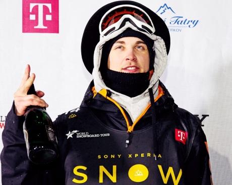 Sony Xperia Snowboard Fest 2014 - víťaz Måns Hedberg zo Švédska