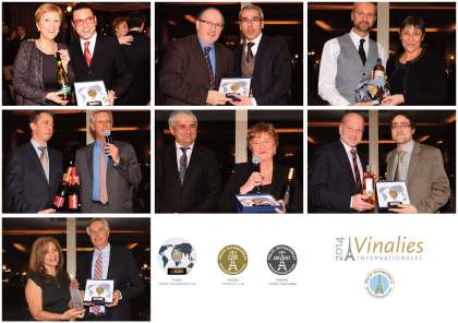 Oceňovane najlepších na Vinalies Internationales 2015. Foto: organizátor
