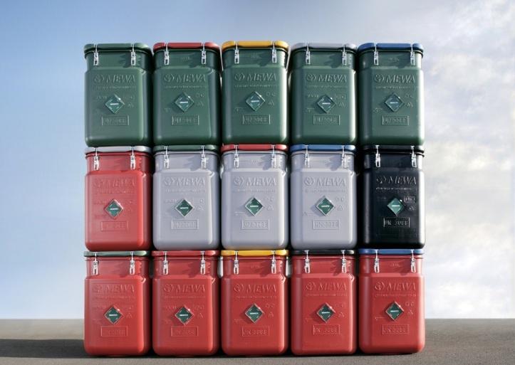Bezpečnostný kontajner: Bezpečné skladovanie apreprava znečistených opakovane použiteľných priemyselných utierok.